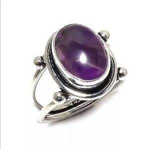 Jewelry - Amethyst Sage Gemstone Silver Ring